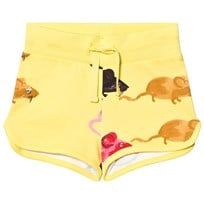 Mini Rodini Mr Mouse Sweatshorts Gul Yellow
