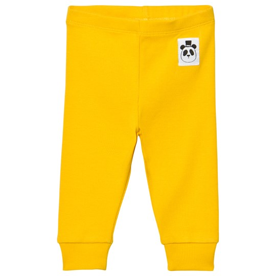 Mini Rodini Solid Rib Leggings Gul Yellow