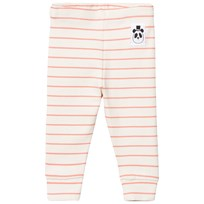 Mini Rodini Stripe Rib Leggings Rosa Pink