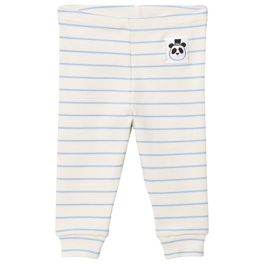 Mini Rodini Stripe Rib Leggings Light Blue Light Blue