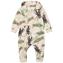 Mini Rodini Insects Onesie Beige Beige
