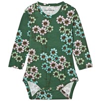 Mini Rodini Daisy Baby Body Dark Green dark green