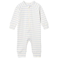 Mini Rodini Stripe Rib Baby Bodysuit Light Blue Light Blue