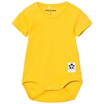 Mini Rodini Solid Rib Baby Body Yellow Yellow