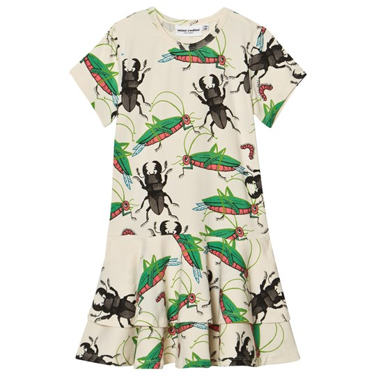 Mini Rodini Insects Frill Dress Off White Off white
