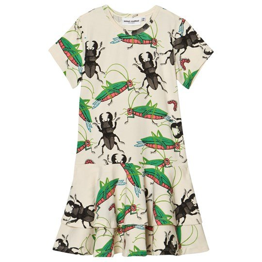 Mini Rodini Insects Frill Dress Off White 白色