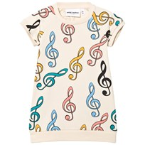Mini Rodini Clef Sweat Dress Off White Off white
