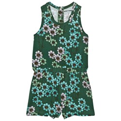 Mini Rodini Daisy Romper Dark Green