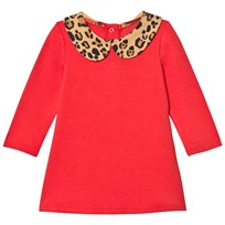 Mini Rodini Leopard Collar Dress Red Red