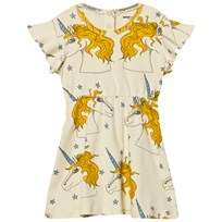 Mini Rodini Unicorn Star Wing Dress Off White Off white