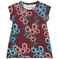 Mini Rodini Daisy Dress Burgundy Burgundy