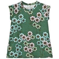 Mini Rodini Daisy Dress Dark Green dark green