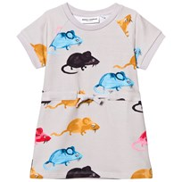 Mini Rodini Mr Mouse Sweat Dress Light Grey Light Grey