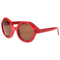 Mini Rodini Solid Round Sunglasses Red Red