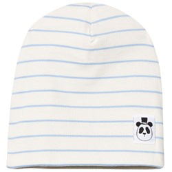 Mini Rodini Stripe Rib Beanie Light Blue