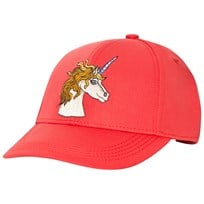 Mini Rodini Unicorn Embroidered Cap Red Red