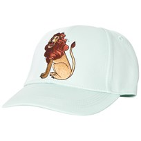 Mini Rodini Lion Embroidered Cap Light Green Light Green