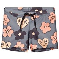 Mini Rodini Flower Swimpants Grey Black