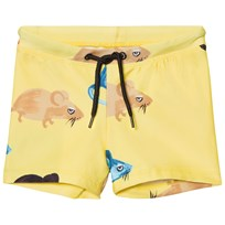 Mini Rodini Mr Mouse Swimpants Yellow Yellow
