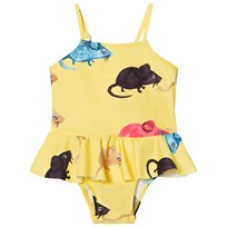 Mini Rodini Mr Mouse Skirt Swimsuit Yellow Yellow