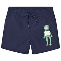Mini Rodini Frog Swimshorts Navy Navy