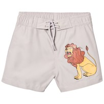 Mini Rodini Lion Badshorts Light Grey Light Grey