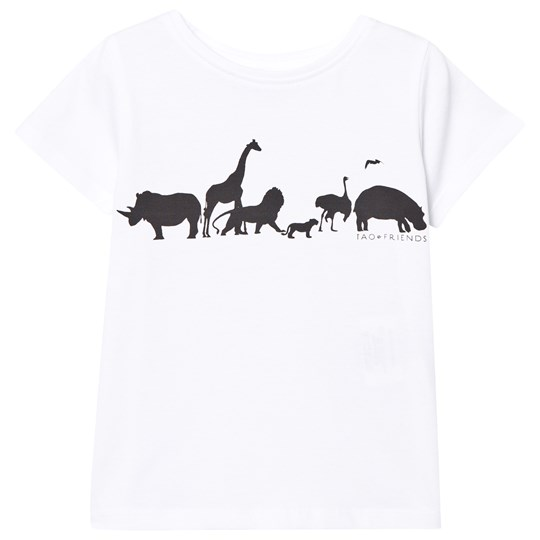 Tao&friends T-shirt Svart och Vit White