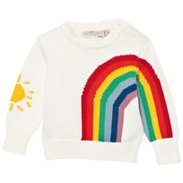 Stella McCartney Kids White Rainbow Jumper 9232
