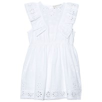 Stella McCartney Kids White Embroidered Anglaise Dress 9082