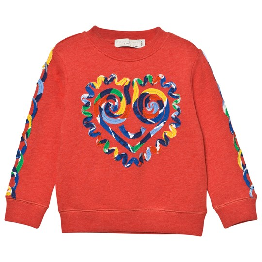 Stella McCartney Kids Red Sweatshirt with Heart Applique 7543
