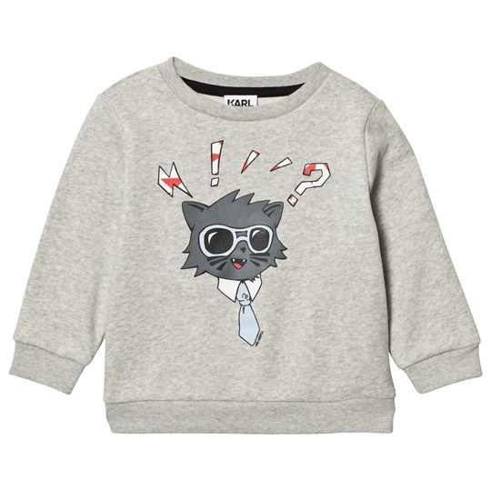 Karl Lagerfeld Kids Grey Marl Bad Cat Sweatshirt A34