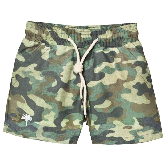 OAS Kid's Cammo Swim Trunks Green