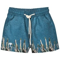 OAS Kid's Cactus Swim Trunks Blue