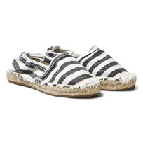 OAS Kid's Black Stripe Espadrilles Black