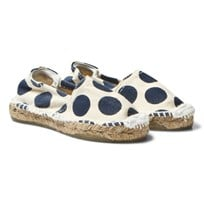 OAS Kid's Blue Dot Espadrilles off-white