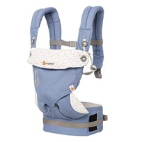 Ergobaby The Four Position Baby Carrier 360 Sophie La Girafe Light Blue Beige