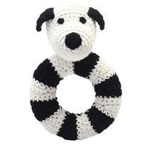 natureZOO Mr Dog Ring Rattle Black
