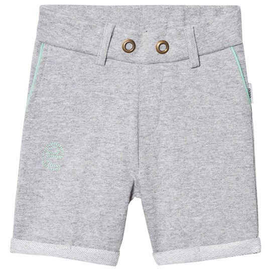 ebbe Kids Saros Sweat Chinos Shorts Grey Melange Grey Melange