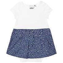 eBBe Kids Crop Baby Dress Dotted Midnight Blue Dotted midnight blue