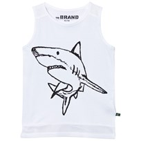 The BRAND Long Mesh Tank White White