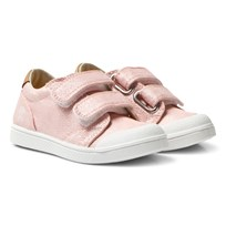 10-IS Pink Shine TEN V 2 Velcro Skor Pink