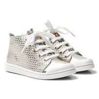 10-IS Silver Skin TEN C Mid Lace Trainer Skin - Silver