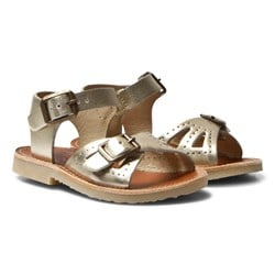Young Soles Pearl Sandals Gold