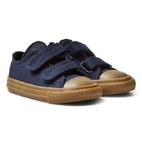 Converse Navy Chuck Taylor All Star II Infants Velcro Trainers Obsidian/Gum