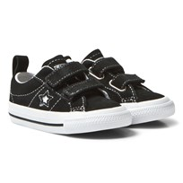 Converse Black One Star Infants Velcro Trainers White/Black