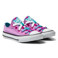 Converse Fuchsia Glow Chuck Taylor All Star Loopholes Junior Trainers Fuchsia Glow/Fresh Cyan/White