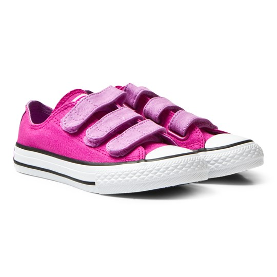 Converse Magenta Glow Chuck Taylor All Star Junior Velcro Trainers Magenta Glow/Fuchsia Glow/White