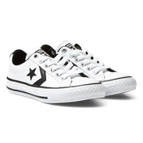 Converse White Star Player EV Junior Trainers White/Black/White