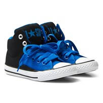 Converse Blue Chuck Taylor All Star High Street Junior Hi Tops Black/Soar/White
