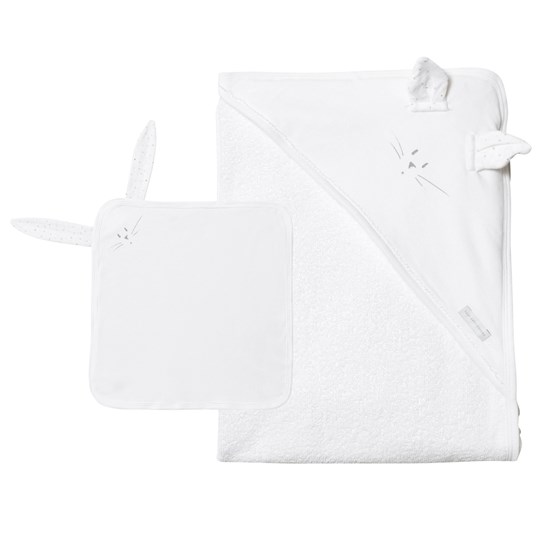 Petit Bateau Baby Bath Towel And Comforter Set White ECUME/DORE/MULTICO